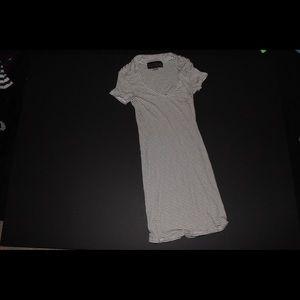 V-neck T-shirt bodycon dress